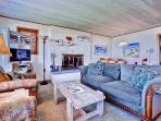 Unwind on the comfortable furnishings in the living area while socializing with your companions