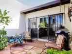 Relish in the desert sunshine on the delightfully furnished back patio