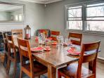 The lovely dining room.