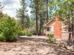 This corner lot is surrounded by beautiful cedar, pine and oak trees.
