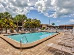 Soak up the Florida sunshine next to the gorgeous community swimming pool!