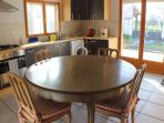 Kitchen Diner in the Gite which can also be used as a summer kitchen