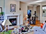 You'll love the living room's comfortable furnishings and stylish decor