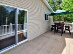 The property has 2 spacious, private decks - One in the front and one in the back.