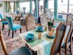 This spacious dining area is a great place to enjoy a meal.