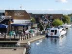 Nearby waterside villages are great for boat hire or just feeding the ducks !