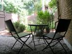 Private and secluded sitting area with BBQ