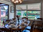 Gather in this lovely dining room for family meals.
