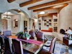 Every meal feels like a special occasion around this elegant dining area