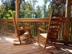 Rocking chairs on the deck.