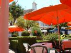 Orange square in the old town of Marbella