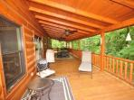 Outside deck offers BBQ grill, dining table for 10, additional seating and hot tub!
