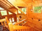 Loft staircase.