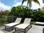 villa iguane house terrasse côté jardin