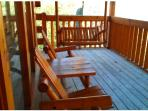 Large back deck with swing