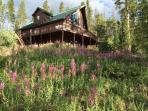 Summer in it's wildflower glory at this Breckenridge chalet.