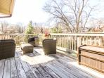 There's a roomy deck to spend time outdoors in the warmer weather.