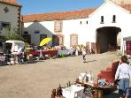 Local Vide Grenier (car boot sale) held in our Hamlet as well as our court.