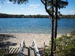 Princess beach, .4 m by bike, shorter by kayak