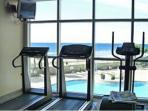 Oceanfront exercise room