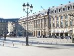 Place Vendome : Cartier, Vuiton, the Ritz, the famous jewelers are 10 mn away.