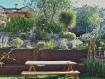 look from your private terrace onto the lush garden