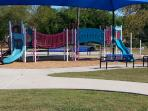 Playground at the splash pad at La Porte, Texas