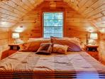 Sleep in the comfort of a King-sized Bed in this  East Wakefield Vacation Rental Cottage