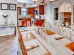 Enjoy your meals around this elegant dining area.