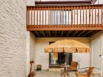 The private backyard is perfect for barbecuing!