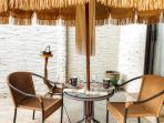 Dine al fresco at the outdoor dining area.