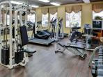 The condominium complex has a terrific fitness center available for guest use