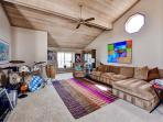 Gather with your companions in the spacious entertainment loft
