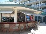 Poolside cabana bar & food