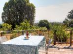 Dine al fresco at any of the smattering of outdoor tables.