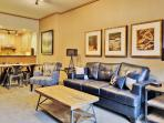 You'll feel right at home in the inviting living room.