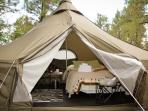 Glamping in style and comfort.