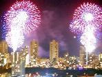 Fireworks from balcony every Friday Night