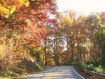 3 mile drive on Town Mountain Road to DT Asheville