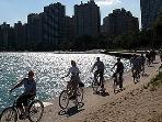 Bike Along the Lakefront - On Our Block... Swim, Tan and Play Volleyball on the Beach!