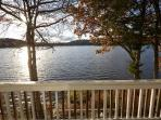 Lake view from outside deck 2013