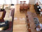 View of breakfast bar/great room from upstairs