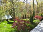 hammock and lovely gardens