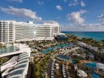 Walk on the beach to the world famous, Fontainebleau Resort.