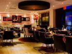 Oceanfront Lola Restaurant is a five-minute walk.