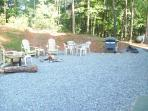 Firepit and grill area