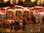 Merry Go Round at night.  It you drive there is free parking for visitors.