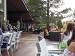 Great outside seating at Oakmont to enjoy the beautiful outdoors of Flagstaff