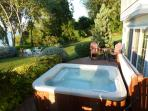 Hot Tub and Deck Chairs