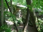 Nature at its best, the natural stone bridge in Sewanee. A must see!